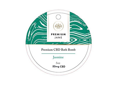 Premium Jane CBD Bath Bomb - Jasmine